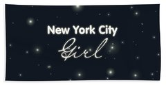 New York City Girl Hand Towel by Pati Photography