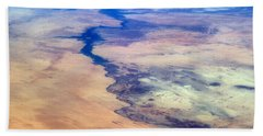 Bath Towel featuring the photograph Nile River From The Iss by Science Source