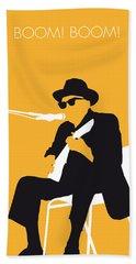 No054 My Johnny Lee Hooker Minimal Music Poster Hand Towel by Chungkong Art