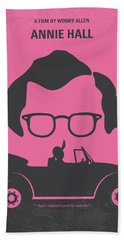 No147 My Annie Hall Minimal Movie Poster Hand Towel by Chungkong Art