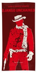 No184 My Django Unchained Minimal Movie Poster Hand Towel by Chungkong Art