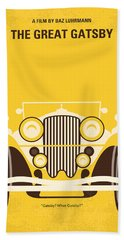 No206 My The Great Gatsby Minimal Movie Poster Hand Towel by Chungkong Art