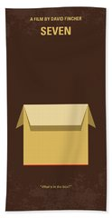 No233 My Seven Minimal Movie Poster Hand Towel by Chungkong Art