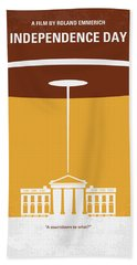 No249 My Independence Day Minimal Movie Poster Hand Towel by Chungkong Art