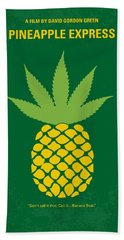 No264 My Pineapple Express Minimal Movie Poster Hand Towel by Chungkong Art