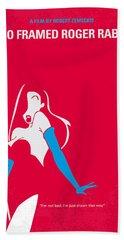 No271 My Roger Rabbit Minimal Movie Poster Hand Towel by Chungkong Art