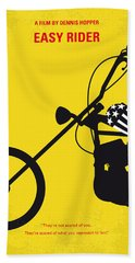 No333 My Easy Rider Minimal Movie Poster Hand Towel by Chungkong Art