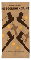 No419 My Boondock Saints Minimal Movie Poster Hand Towel by Chungkong Art