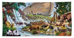 Noahs Ark - The Homecoming Hand Towel by Steve Crisp