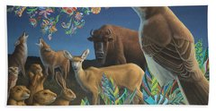 Nocturnal Cantata Hand Towel by James W Johnson