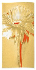 Orange Slice Zinnia Hand Towel by Sherry Allen