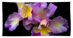 Orchid Embrace Hand Towel by Jessica Jenney