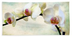 Orchid Heaven Hand Towel by Jessica Jenney