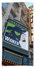 Orpheum Sign Hand Towel by Carol Groenen