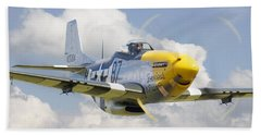 P51 Ferocious Frankie Hand Towel by Pat Speirs