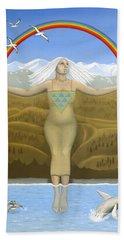 Papatuanuku / Capricorn Hand Towel by Karen MacKenzie