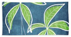 Paradise Palm Trees Hand Towel by Linda Woods