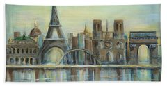 Paris Highlights Hand Towel by Marilyn Dunlap