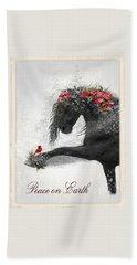 Peace On Earth Hand Towel by Fran J Scott
