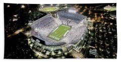 Penn State Whiteout Hand Towel by Amesphotos