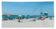 People On The Beach, Venice Beach, Gulf Hand Towel by Panoramic Images