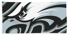 Philadelphia Eagles Football Hand Towel by Tony Rubino