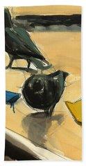 Pigeons Hand Towel by Daniel Clarke