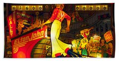 Pinball Machine Capt. Fantastic Hand Towel by Terry DeLuco