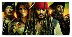Pirates Of The Caribbean Stranger Tides Hand Towel by Movie Poster Prints