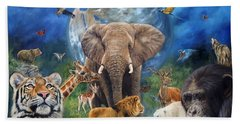 Planet Earth Hand Towel by David Stribbling