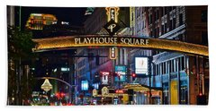Playhouse Square Hand Towel by Frozen in Time Fine Art Photography