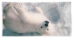 Polar Bear Cub Hand Towel by Mark Newman