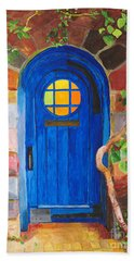 Bath Towel featuring the painting Portal by Rodney Campbell