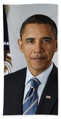 President Barack Obama Hand Towel by Pete Souza