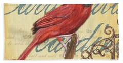 Pretty Bird 1 Hand Towel by Debbie DeWitt