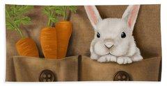 Rabbit Hole Hand Towel by Veronica Minozzi