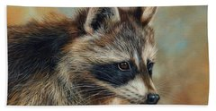 Raccoon Hand Towel by David Stribbling