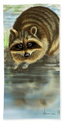 Raccoon Hand Towel by Veronica Minozzi