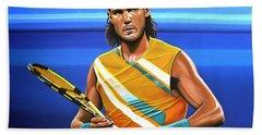 Rafael Nadal Hand Towel by Paul Meijering