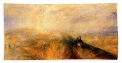 Rain Steam And Speed.  Hand Towel by J M W Turner