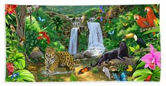 Rainforest Harmony Variant 1 Hand Towel by Chris Heitt