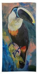Rainforest Toucan Hand Towel by Michael Creese
