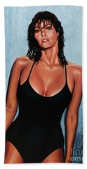 Raquel Welch Hand Towel by Paul Meijering