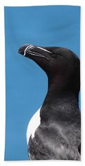 Razorbill Profile Hand Towel by Bruce J Robinson