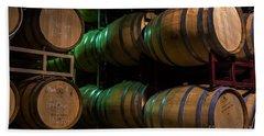 Resting Wine Barrels Hand Towel by Iris Richardson