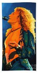Robert Plant Hand Towel by Paul Meijering