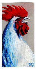 Rooster Head Hand Towel by Mona Edulesco