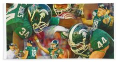 Rose Bowl Collage Hand Towel by John Farr