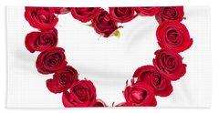 Rose Heart Hand Towel by Elena Elisseeva