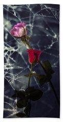 Roses With Coweb Hand Towel by Joana Kruse